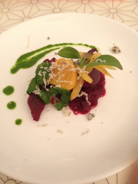 Notch Hills Beet Salad Oru Restaurant in Pacific Rim Hotel Vancouver