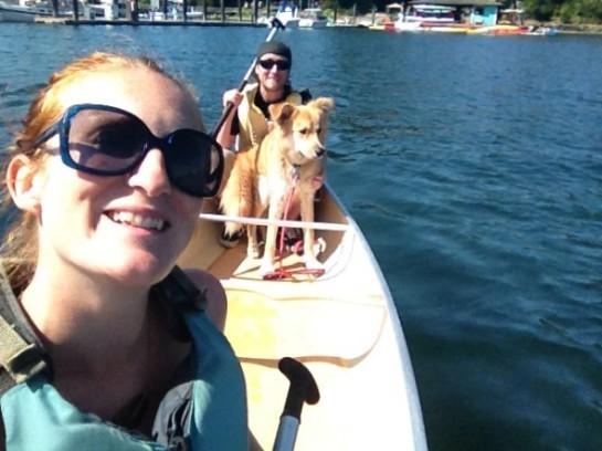 Canoe off Bainbridge Island